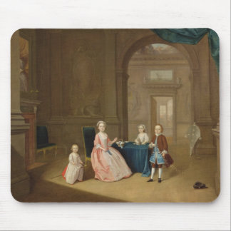 Portrait of a Group of Children, c.1743 (oil on ca Mouse Pad