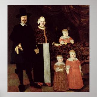Portrait of a Hamburg Family, c.1640 Poster