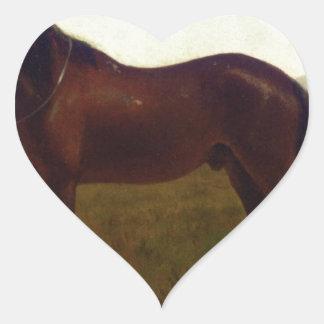 Portrait of a Horse by Albert Bierstadt Heart Sticker