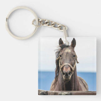 Portrait of a horse keychain