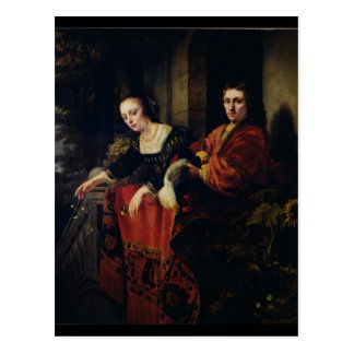 Portrait of a Husband and Wife, 1654 Postcard