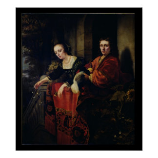 Portrait of a Husband and Wife, 1654 Poster