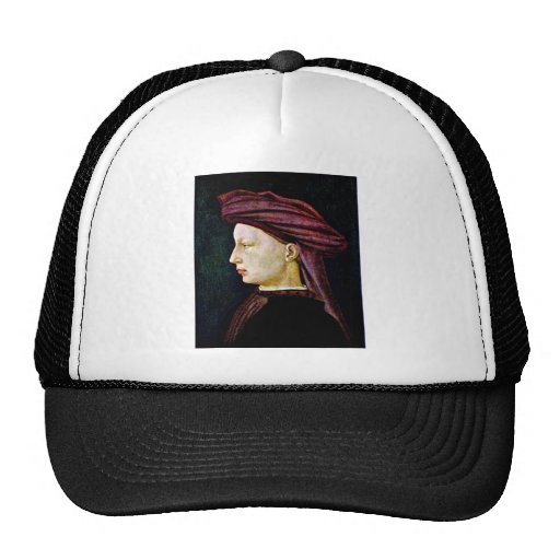 Portrait of a in profile by Masaccio Trucker Hat