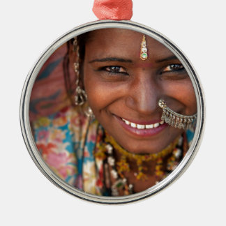 Portrait of a India Rajasthani woman Metal Ornament
