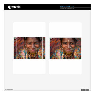 Portrait of a India Rajasthani woman Skin For Kindle Fire