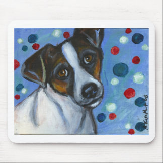 Portrait of a Jack Russell Mouse Pad