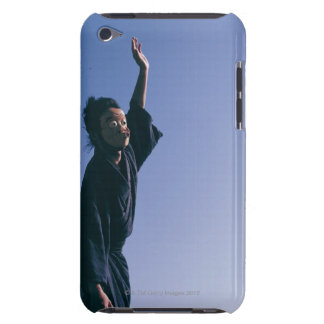 Portrait of a Japanese man in traditional 4 Barely There iPod Cover