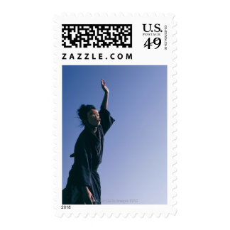 Portrait of a Japanese man in traditional 4 Postage