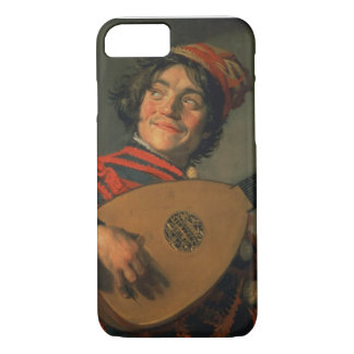 Portrait of a Jester with a Lute (oil on canvas) iPhone 8/7 Case