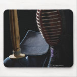 Portrait of a Kendo Fencer 6 Mouse Pad