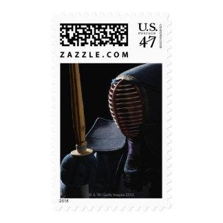 Portrait of a Kendo Fencer 6 Postage