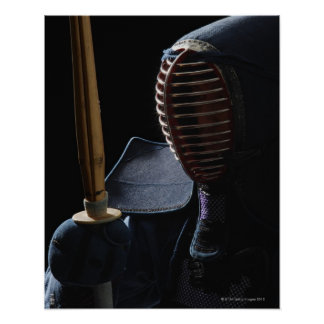 Portrait of a Kendo Fencer 6 Print