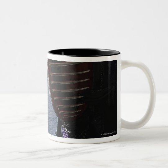 Portrait of a Kendo Fencer 6 Two-Tone Coffee Mug