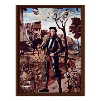 Portrait Of A Knight By Carpaccio Vittore Postcard