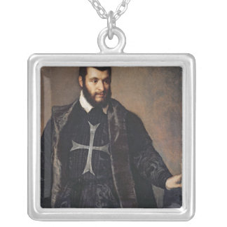Portrait of a Knight of the Order of Malta Silver Plated Necklace