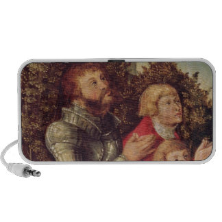 Portrait of a Knight with his two sons Portable Speaker