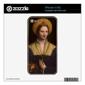 Portrait of a lady 1520-1525 oil on panel decals for the iPhone 4