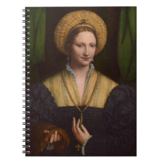 Portrait of a lady, 1520-1525 (oil on panel) spiral notebook
