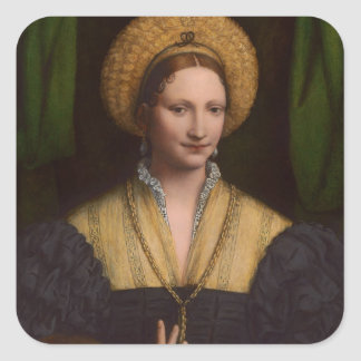 Portrait of a lady, 1520-1525 (oil on panel) stickers
