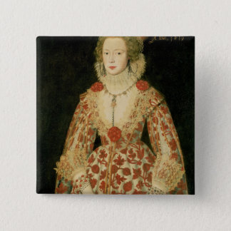 Portrait of a Lady, 1619 Pinback Button