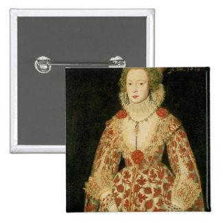 Portrait of a Lady, 1619 Pinback Button