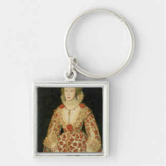 Portrait of a Lady, 1619 Silver-Colored Square Keychain