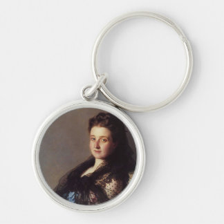 Portrait of a Lady 1872 Silver-Colored Round Keychain