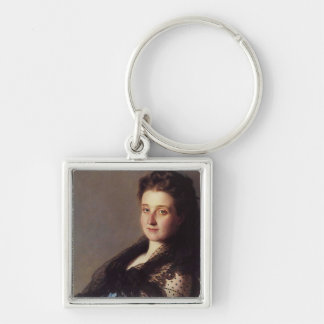 Portrait of a Lady 1872 Silver-Colored Square Keychain