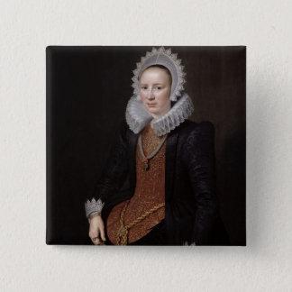 Portrait of a Lady aged 29, 1615 Pinback Button