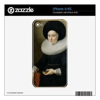 Portrait of a Lady, aged 47, 1647 (oil on canvas) Decal For The iPhone 4