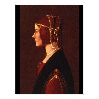Portrait of a Lady', Ambrogio de_Portraits Postcard