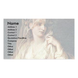Portrait Of A Lady As A Vestal Virgin Business Card