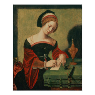 Portrait of a Lady as the Magdalen Poster