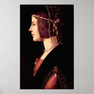 Portrait of a Lady (Beatrice d'Este) by Da Vinci Print