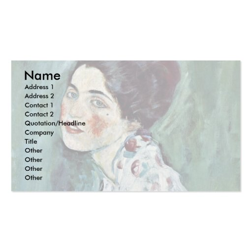 Portrait Of A Lady By Klimt Gustav Double-Sided Standard Business Cards (Pack Of 100)