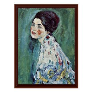 Portrait Of A Lady By Klimt Gustav Postcards