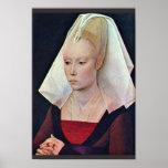 Portrait Of A Lady By Weyden Rogier Van Der Print