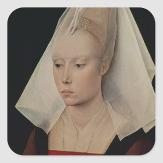 Portrait of a Lady, c.1450-60 Square Sticker