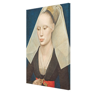 Portrait of a Lady, c.1460 (oil on panel) Canvas Print