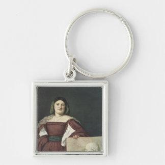 Portrait of a Lady , c.1510-12 Keychain