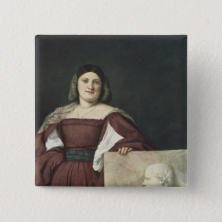 Portrait of a Lady , c.1510-12 Pinback Button