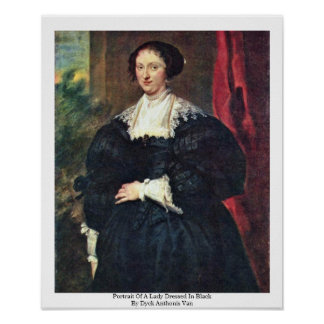Portrait Of A Lady Dressed In Black Poster