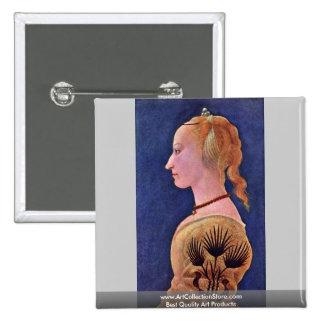 Portrait Of A Lady (Francesca Galli?) Pinback Buttons