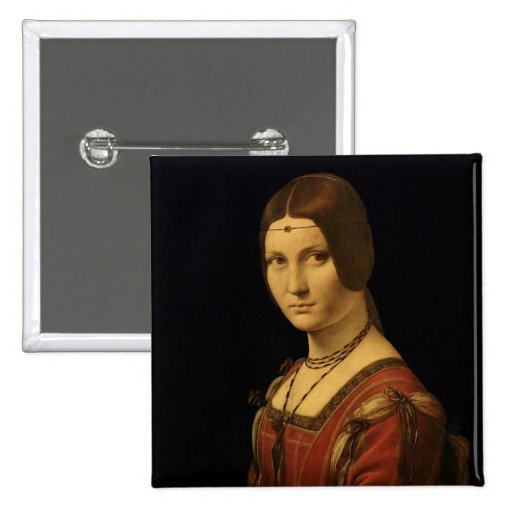 Portrait of a Lady from the Court of Milan Pinback Buttons