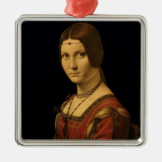 Portrait of a Lady from the Court of Milan Metal Ornament