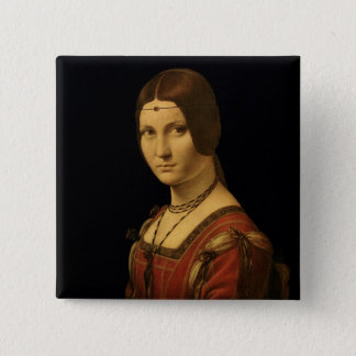Portrait of a Lady from the Court of Milan Pinback Button