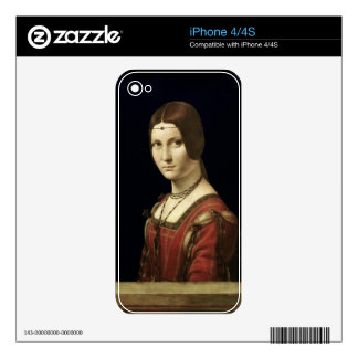 Portrait of a Lady from the Court of Milan iPhone 4S Decal