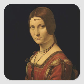 Portrait of a Lady from the Court of Milan Square Sticker