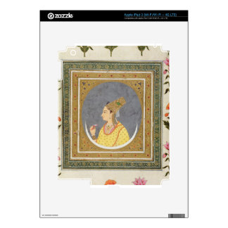 Portrait of a lady holding a lotus petal, from the iPad 3 decal