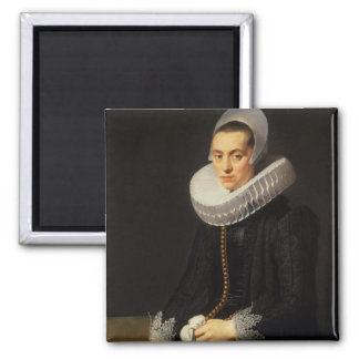 Portrait of a Lady in a Black Dress Magnet
